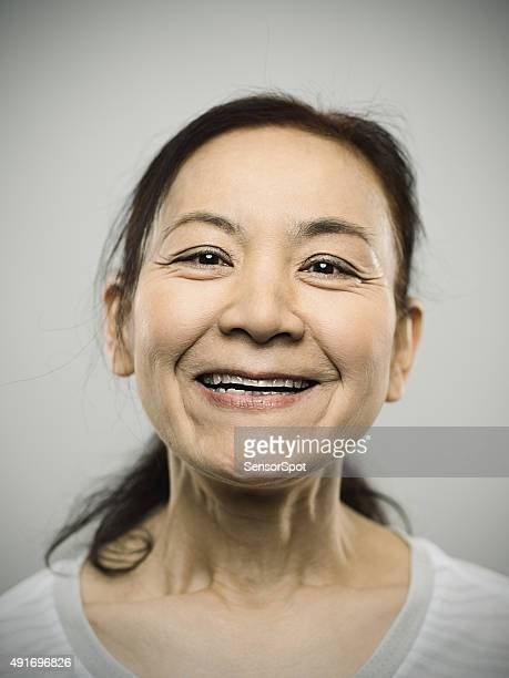Portrait of a happy senior japanese woman