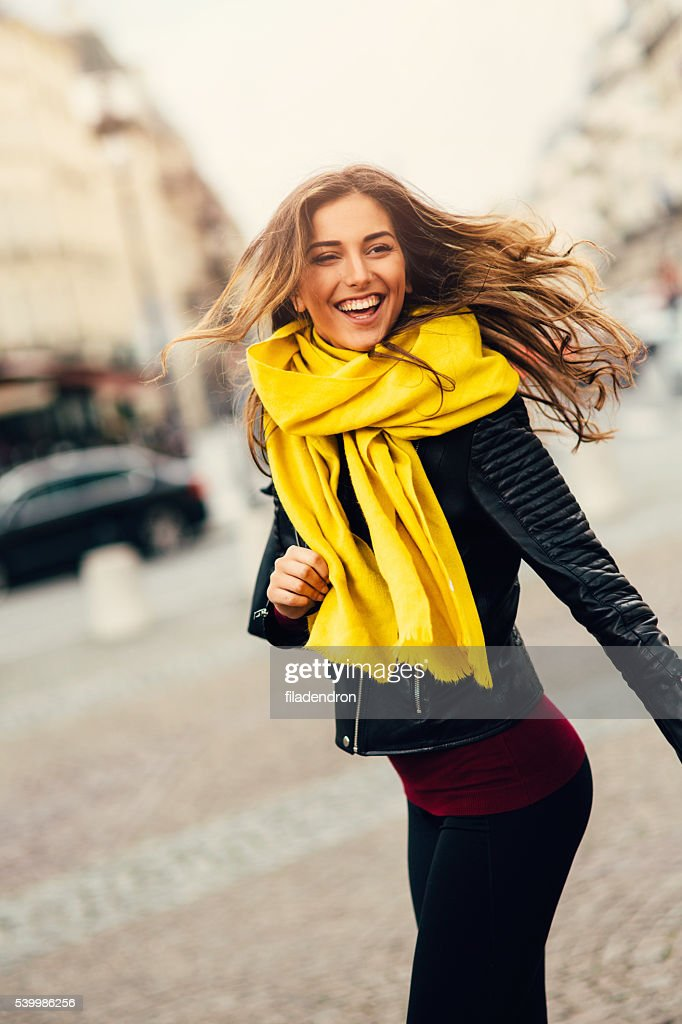 Portrait of a happy woman : Stock Photo