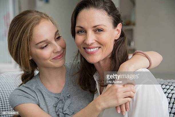 Portrait of a happy woman with her daughter