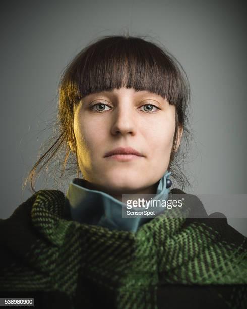 Porträt einer glückliche junge Frau