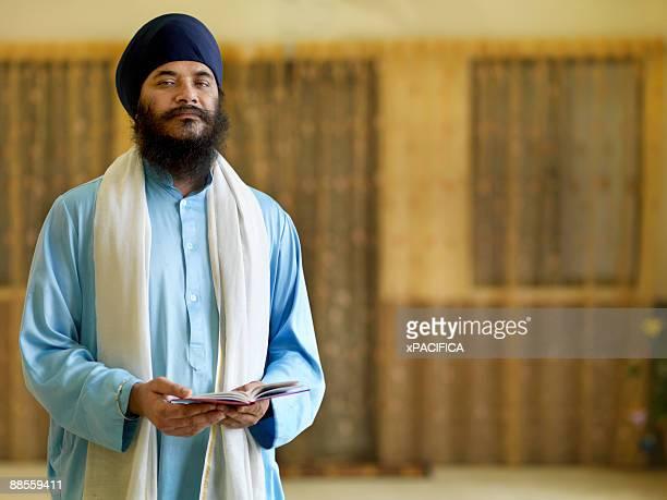 A portrait of a head Punjabi Sikh priest