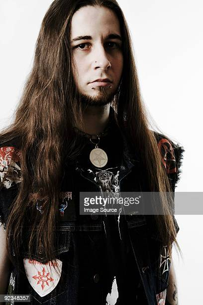 Portrait of a heavy metal fan