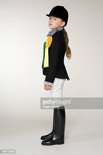 portrait of a horse rider - riding boot stock pictures, royalty-free photos & images