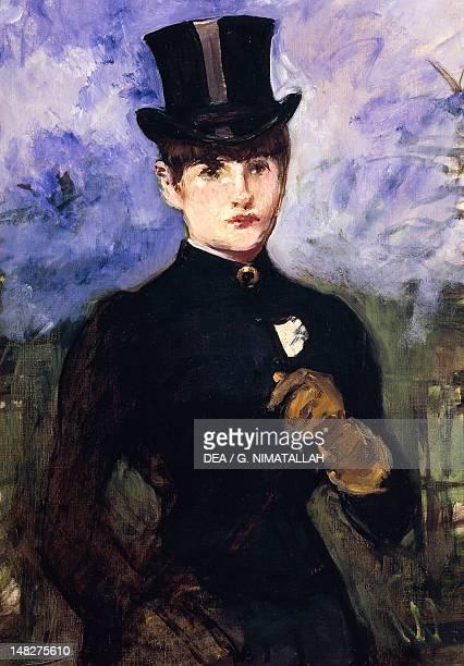 Portrait of a horsewoman by Edouard Manet oil on canvas 73x52 cm LuganoCastagnola Villa Favorita
