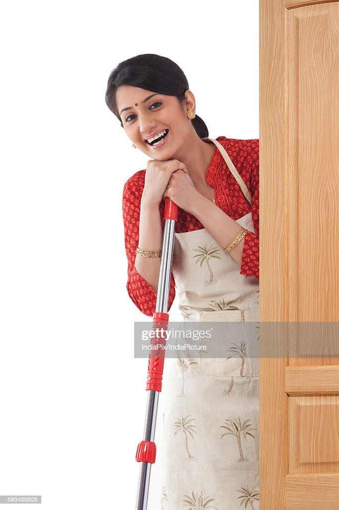 Portrait of a housewife : Stock Photo