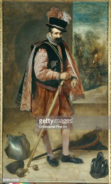 Portrait of a jester known as Don Juan of Austria Velasquez Diego Prado Museum of Madrid Spain