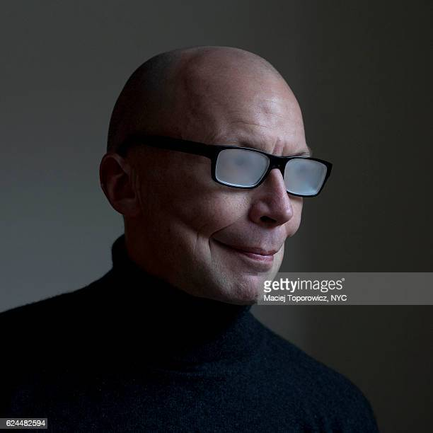 portrait of a joker like looking man in glasses. - male flashers stock photos and pictures