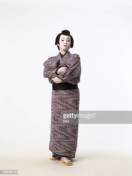 Portrait of a Kabuki actor standing, Front View