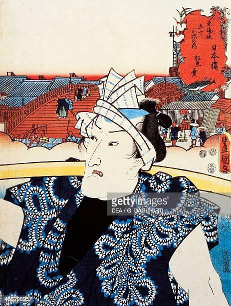 Portrait of a Kabuki theatre actor ukiyoe art print by Utagawa Toyokuni woodcut Japanese civilisation Edo period 17th19th century
