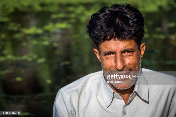 portrait of a kashmiri man in kashmir, india. - shaifulzamri stock pictures, royalty-free photos & images