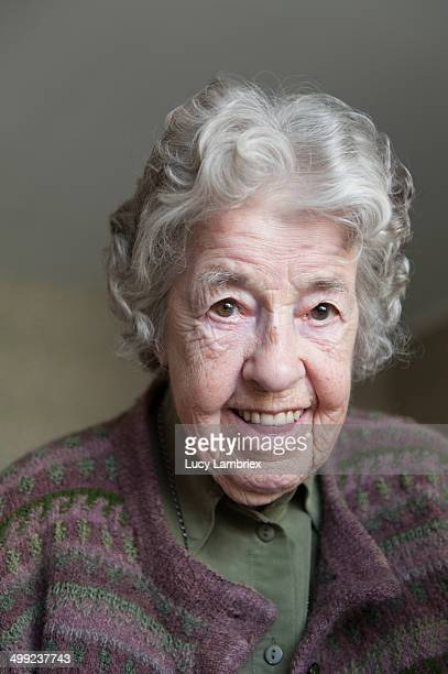 Portrait of a kind 97-year-old lady, smiling