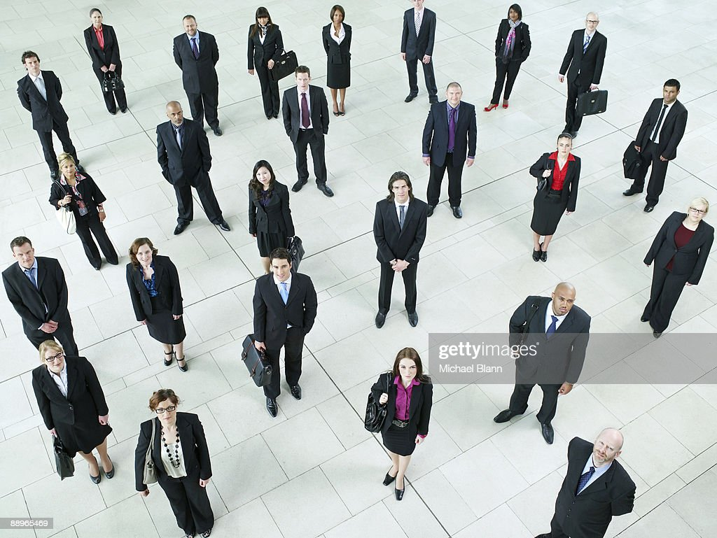 portrait of a large crowd of business people : Stock Photo