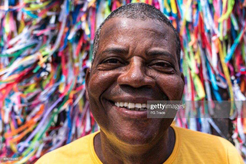 Portrait of a Latino Man Smiling : Stock Photo