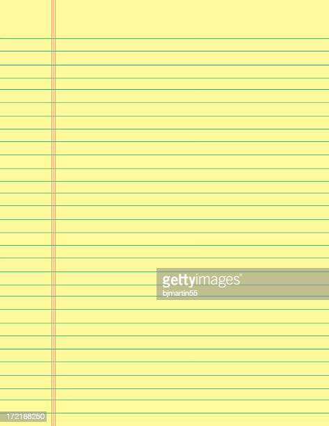 portrait of a legal pad taking up the entire frame - lined paper stock pictures, royalty-free photos & images