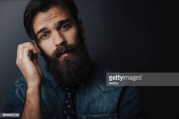 Portrait of a likeable bearded man