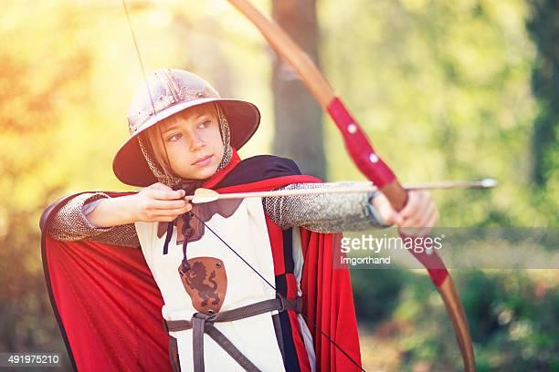 Portrait d'une petite archer Grill