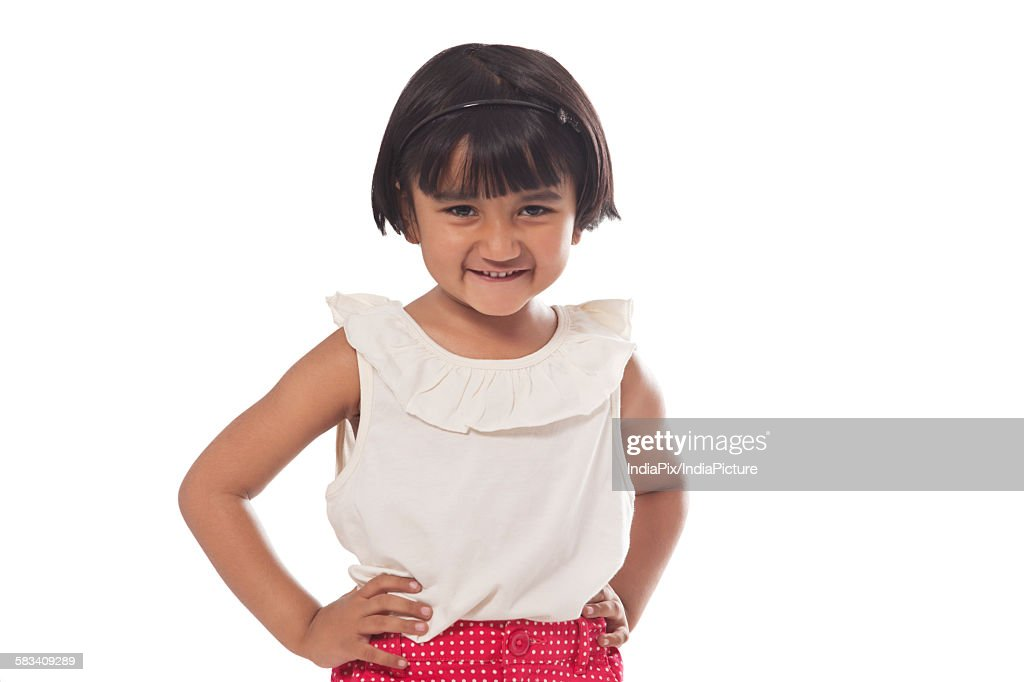 Portrait of a little girl : Stock Photo