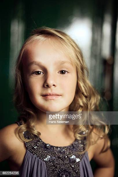 a portrait of a little girl - little russian girls stock photos and pictures