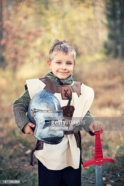Porträt von einem kleinen knight