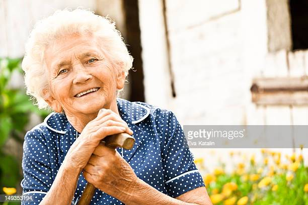 Portrait of a lovely grandma