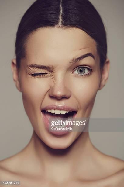 Portrait d'une charmante femme