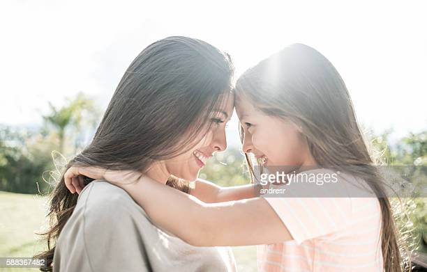 portrait of a loving mother and daughter - mother's day stock pictures, royalty-free photos & images