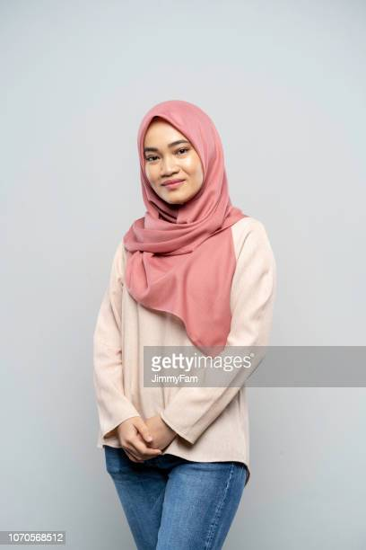 portrait of a malay woman from malaysia - malaysia beautiful girl stock photos and pictures