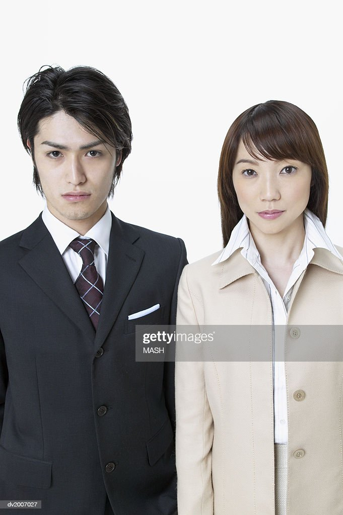 Portrait of a Male and Female Business Executive : Stock Photo