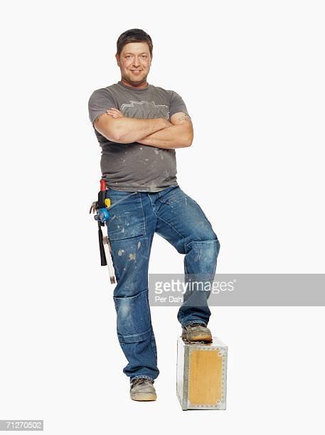Portrait of a male carpenter.