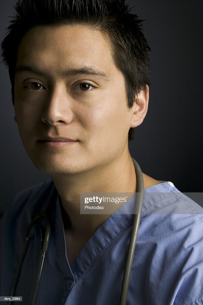 Portrait of a male doctor : Foto de stock