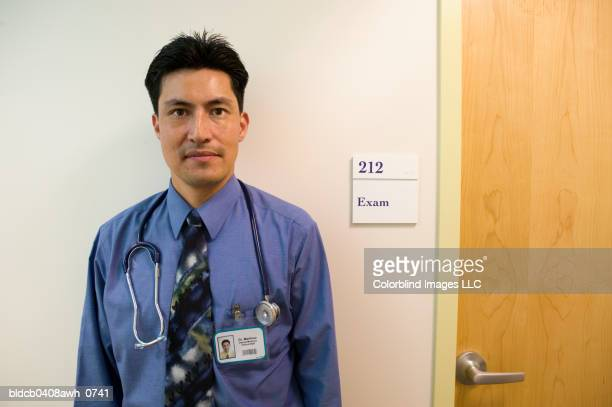 Portrait of a male doctor with a stethoscope around his neck