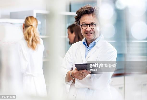 Portrait of a Male Mid Adult Scientist in the Laboratory