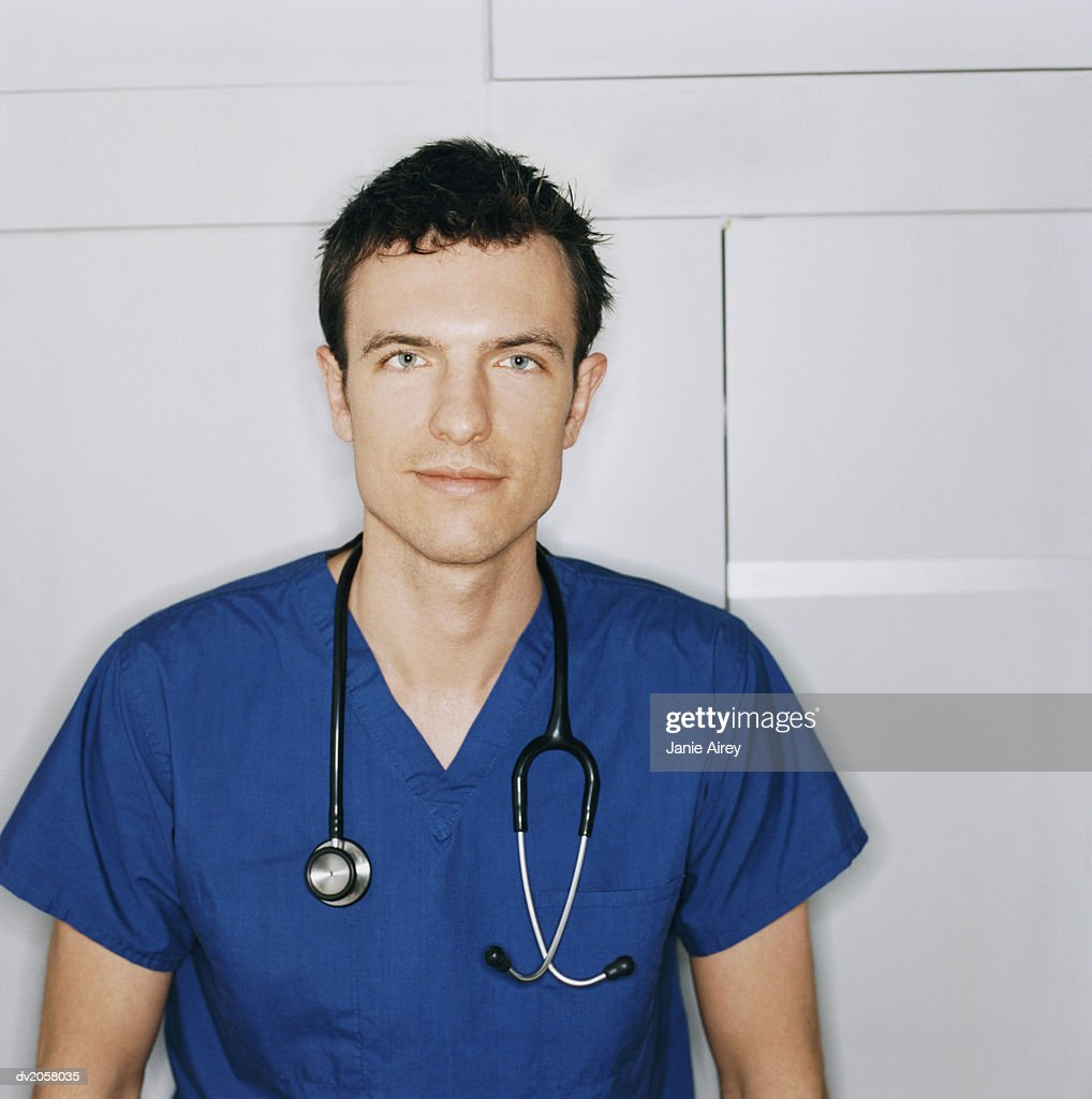 Portrait of a Male Nurse : Stock Photo