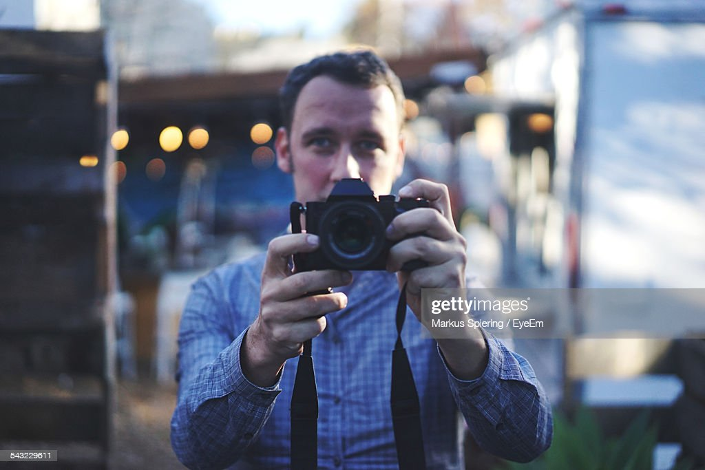 Portrait Of A Male Photographer : Stock Photo