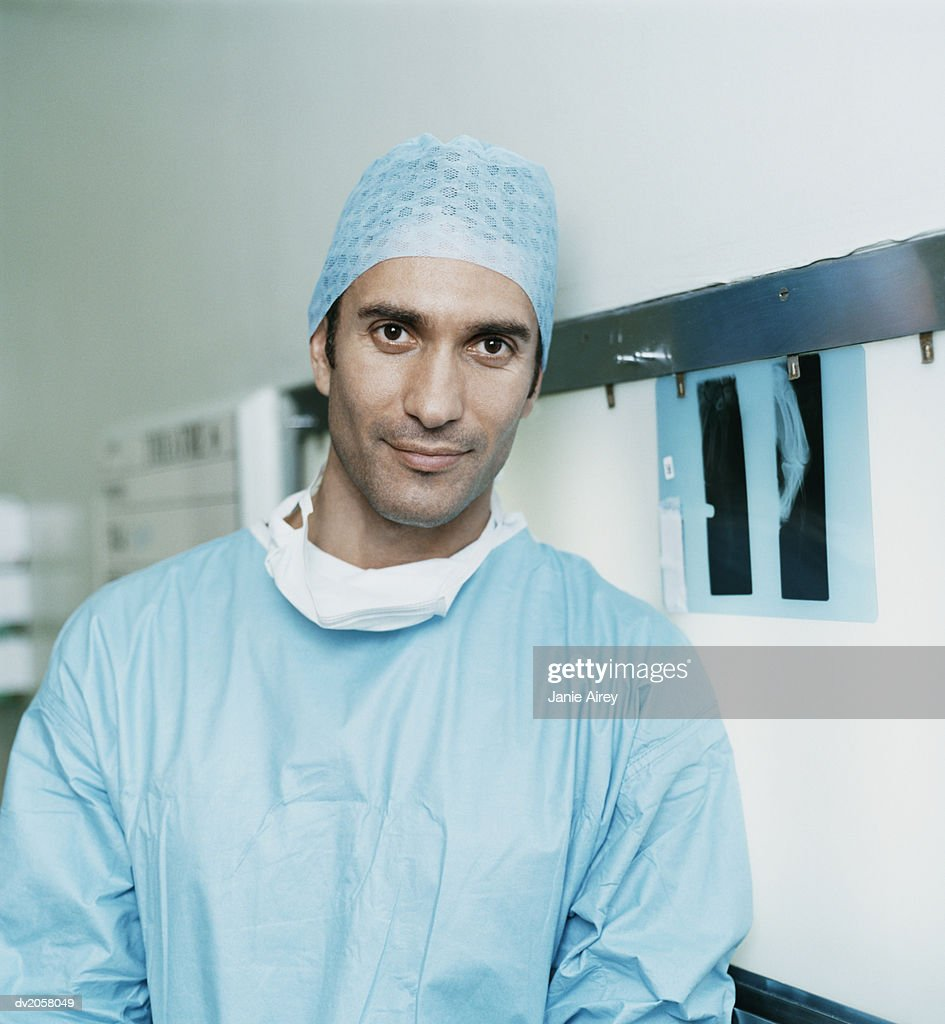 Portrait of a Male Surgeon : Stock Photo