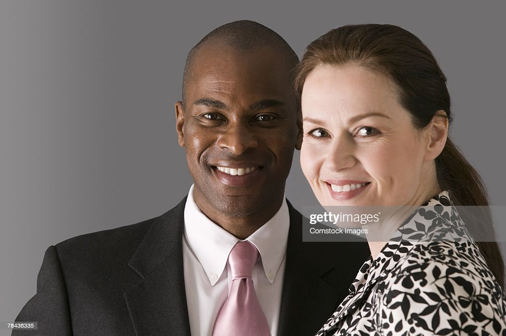 Portrait of a man and a woman : Stockfoto
