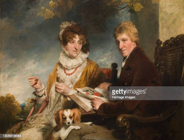 Portrait Of A Man And Woman, 1818. Artist William Owen. .