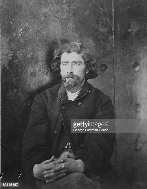 Portrait of a man arrested on suspicion of being one of the Lincoln Assassination Conspirators 1865