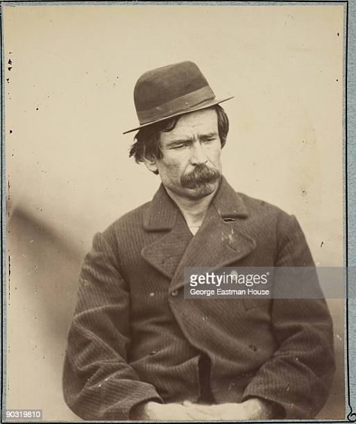 Portrait of a man arrested on suspicion of being one of the Lincoln Assassination conspirators identified as Joao Celestino 1865 Later cleared this...