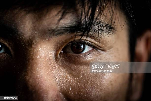 portrait of a man doing sports training - boxing sport stock pictures, royalty-free photos & images