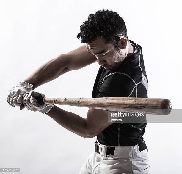 Portrait of a man holding a baseball bat