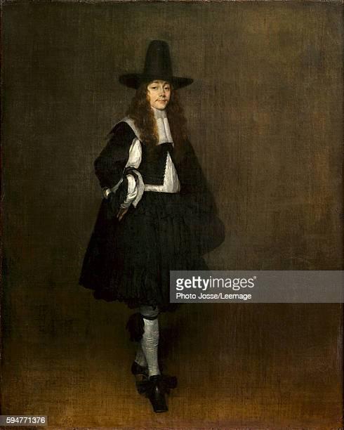 Portrait of a man in black Painting by Gerard Ter Borch 17th century 067 x 053 m Louvre Museum Paris