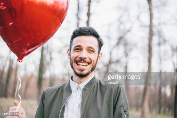 Porträt eines Mannes in der Liebe