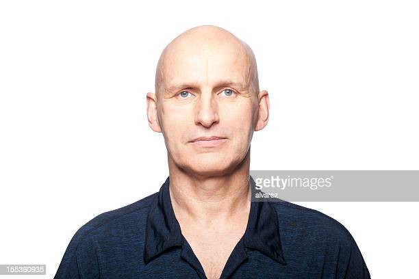 portrait of a man - completely bald stock pictures, royalty-free photos & images