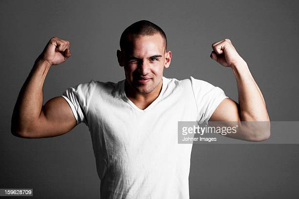 portrait of a man. - stiff arm stock pictures, royalty-free photos & images