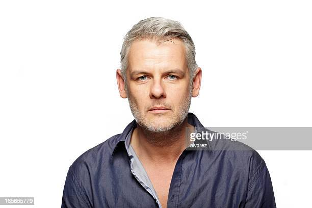 portrait of a man - white hair stock pictures, royalty-free photos & images