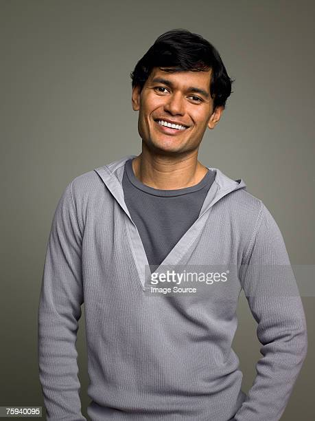 portrait of a man - gray shirt stock pictures, royalty-free photos & images