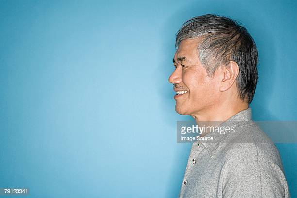 portrait of a man - japanese old man stock pictures, royalty-free photos & images