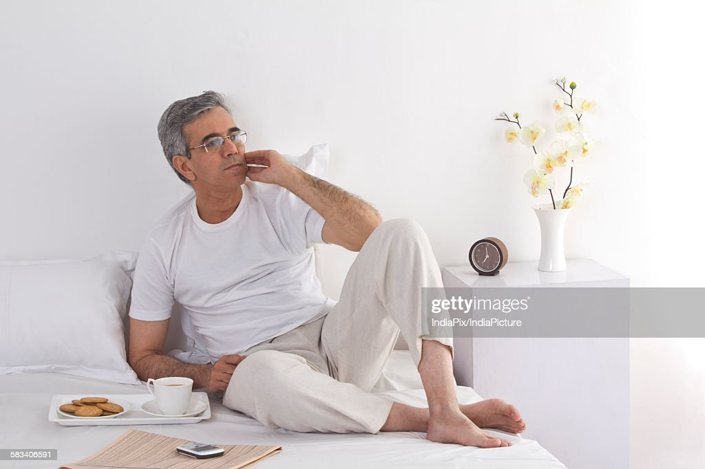 Portrait of a man relaxing : Stock Photo