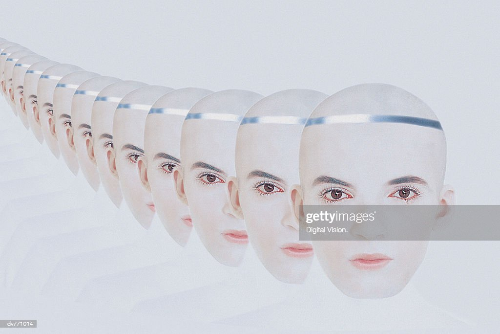 Portrait of a Man Repeated : Stock Photo